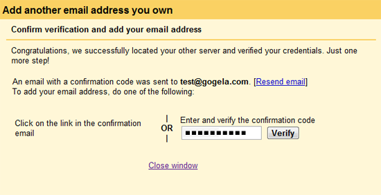 Verify Your E-Mail Account