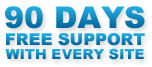 90 Days Free Support With Every Website
