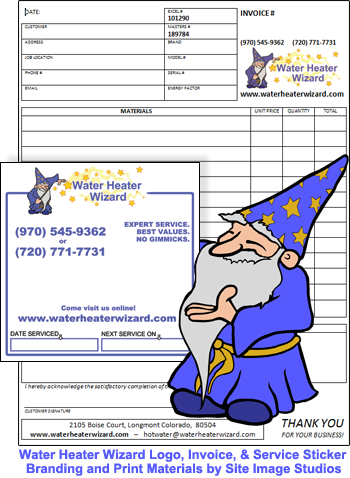 Water Heater Wizard Print Materials